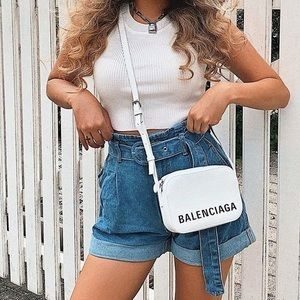 Shorts - Belted High Waisted Shorts